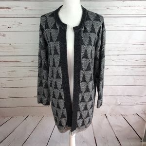 14th & Union Gray Open Front Cardigan Size S